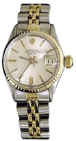 Rolex Date 6517 14K Yellow Gold & Stainless Steel With Silver Dial Vintage Womens Watch