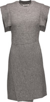 Etoile Isabel Marant Letty wrap-effect textured-knit mini dress