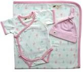 Infant Girl's Monica + Andy Blanket, Bodysuit & Hat Set