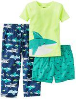 Carter's Toddler Boy Shark Tee, Shorts & Pants Pajama Set