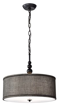 Bungalow Rose Yeldell Woven 3-Light Drum Pendant