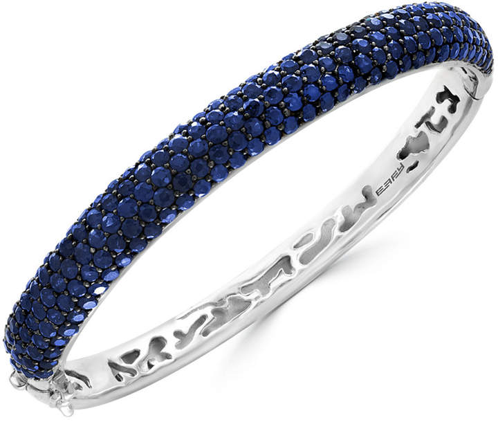 Effy Balissima Sapphire Pave Bangle Bracelet (10 ct. t.w.) in Sterling Silver