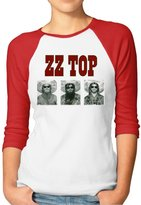 ENJOYSS Women's ZZ Top Raglan 3/4 Sleeve T-Shirt