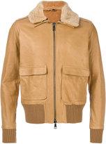 Giorgio Brato Limited Edition aviator jacket - men - Silk/Leather/Polyester/Spandex/Elastane - 46