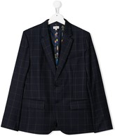 Paul Smith TEEN checked single-breasted blazer
