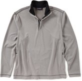 Roundtree & Yorke Quarter Zip Covered Placket Pullover Sweater