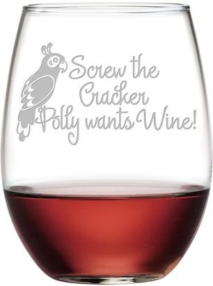 Susquehanna Glass Screw The Cracker Polly Wants Stemless Wine Tumbler (Set of 2) 21oz