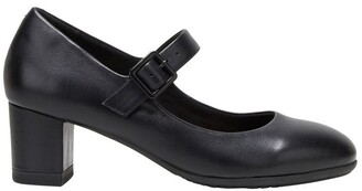 Hush Puppies The Mary Jane Black Heeled Shoe