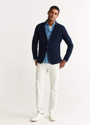 MANGO Structured fabric knit blazer