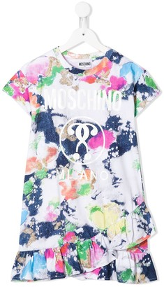 MOSCHINO BAMBINO Tie-Dye Print Dress