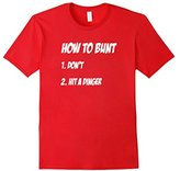 Men's How To Bunt Baseball or Fastpitch Softball T-Shirt T Medium