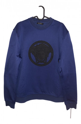 Versace Blue Cotton Knitwear & Sweatshirts