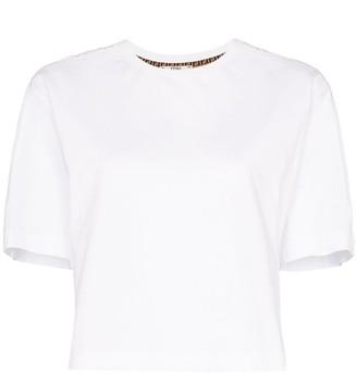 Fendi FF motif cropped T-shirt