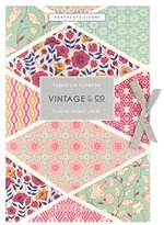 Heathcote & Ivory Vintage & Co Fabric & Flowers Scented Drawer liners - Pack of 6