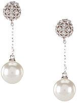 Nadri Faux-Pearl Drop Chain Earrings
