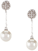 Nadri Pearl Drop Chain Earrings
