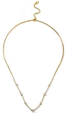 "Eliot Danori Cubic Zirconia Bar Statement Necklace, 16"" + 2"" extender, Created for Macy's"
