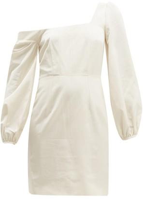 Racil Debbie Moire Mini Dress - Womens - Cream