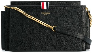 Thom Browne LUCIDO LEATHER ACCORDION BAG