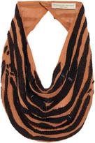Mignonne Gavigan Zebra Le Charlot Necklace in Nude/Black