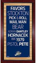 """Steiner Sports Utah Jazz 32"""" x 16"""" Vintage Subway Sign"""