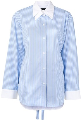 Eudon Choi Double-Collar Striped Shirt