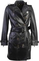 Burberry Sandringham Leather Trench Coat
