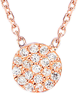GABIRIELLE JEWELRY 20K Rose Gold Over Silver Cz Necklace