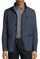 John Varvatos Slim Zip-Front Jacket