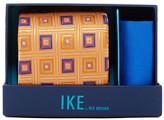 Ike Behar Steven Squares Silk Tie & Harnderchief