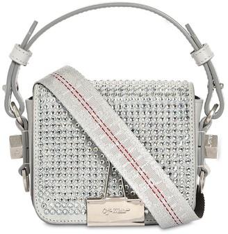 Off-White Off White Baby Flap Crystal Shoulder Bag