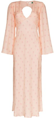 Rixo Nadia floral-print open-back dress