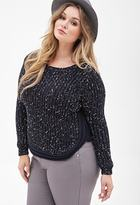 Forever 21 FOREVER 21+ Plus Size Marled Dolphin Hem Sweater