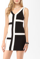Contrast Paneled Bodycon Dress