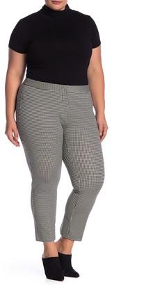 Amanda & Chelsea Houndstooth Comfort Waist Ponte Pants (Plus Size)
