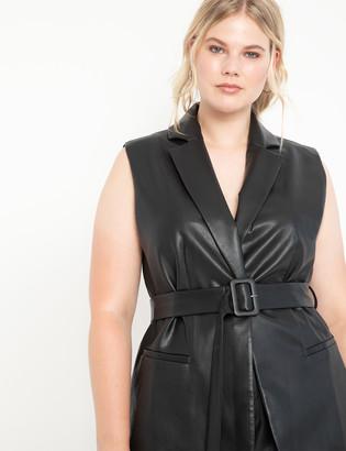 ELOQUII Faux Leather Vest