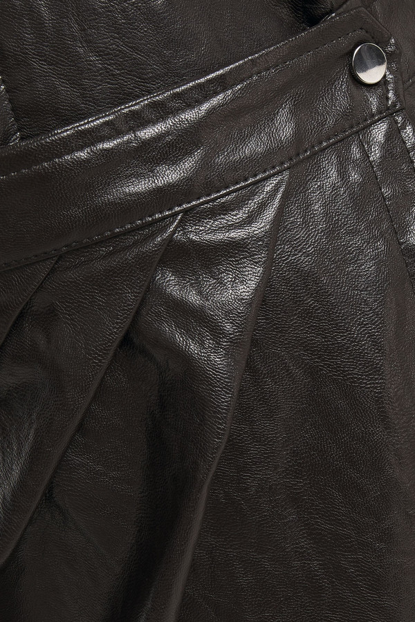 Thumbnail for your product : BA&SH Sophia Wrap-effect Crinkled Faux Leather Dress