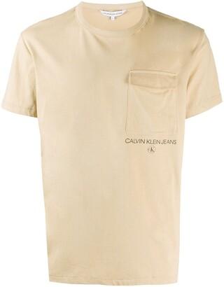 Calvin Klein Jeans logo chest-pocket T-shirt