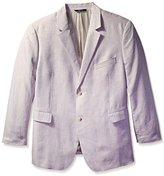 Perry Ellis Men's Big-Tall Big and Tall Solid Linen Suit Jacket