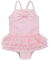 Little Me 1-Pc. Sequinned Skirted Bow Swimsuit, Baby Girls (0-24 months)