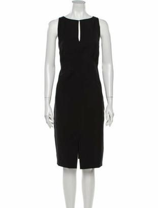 Valentino Fleece Wool Midi Length Dress Wool
