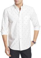 Izod Long-Sleeve Printed Woven Shirt