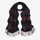 Bally Studded Tartan Check Scarf Multicolor, Men's wool and angora blend scarf in multi-colour
