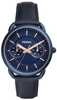 Fossil Women's Tailor Multifunction Leather Strap Watch, 35mm