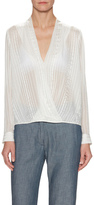 Mason Wrap Silk Blouse
