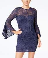 Trixxi Juniors' Bell-Sleeve Lace Dress