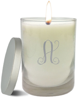 clear Carved Solutions Monogram Glass Candle