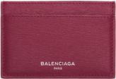 Balenciaga Pink Essential Single Card Holder