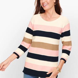 Talbots Riviera Stripe Pima Cotton Sweater