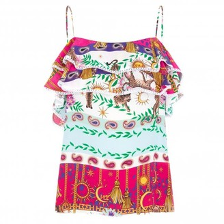 Hayley Menzies Multicolor Enchanted Leopard Frill Camisole Top - S